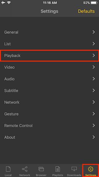 nPlayer Help | Resume Playback